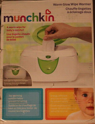 New - Munchkin Warm Glow Wipe Warmer with built-in Night Light