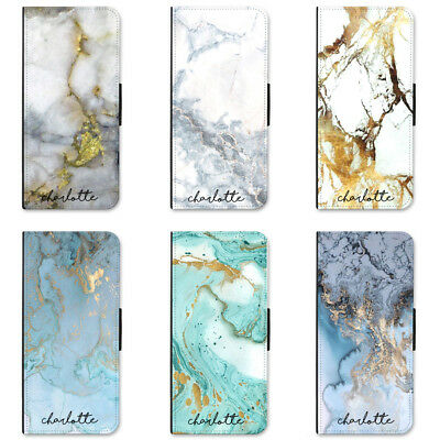 Wallet Flip Case For iPhone X 8 plus 7 6s 5s 5c 4 Custom Marble Personalised