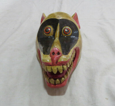 M842 Nepalese Hand Crafted African baboon Monkey WOODEN wall hanging decor MASK