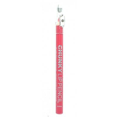 Mega Thick - Chunky Pencil / Lip Liner - Technic - With Sharpener - Coral