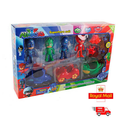 PJ Masks With Scooter  Catboy Owlette Figure Toys-perfect gift UK STOCK