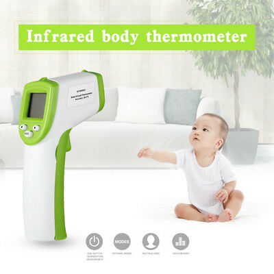 Digital Non-contact LCD IR Infrared Thermometer Forehead Body Temperature Meter