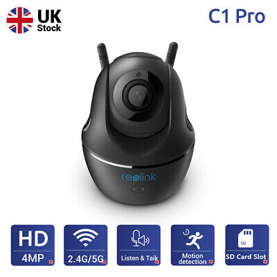 Reolink 4MP WiFi Security Camera 2.4/5G Pan Tilt 2-Way Audio Baby Monitor C1 Pro