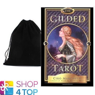 The Gilded Tarot Cards Deck And Book Set Esoteric Ciro Marchetti Llewellyn Bag