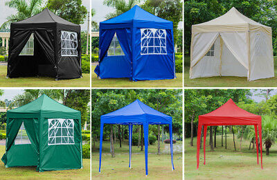 2m x 2m Heavy Duty WATERPROOF Pop Up Gazebo Garden Outdoor Marquee Awning Tent