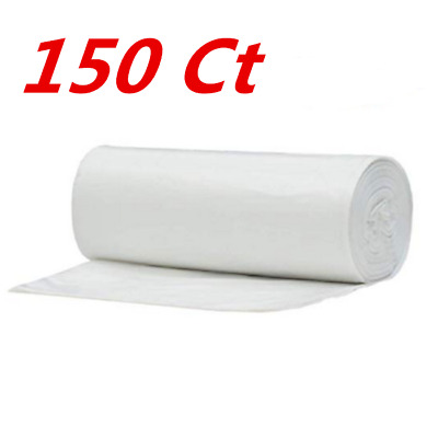 150 Ct Strong 8 Gallon Commercial Kitchen Trash Bag 8 Gal Garbage Bag Yard Clear
