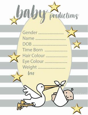 Baby Prediction & Advice Cards Mum To Be - Baby Shower Games