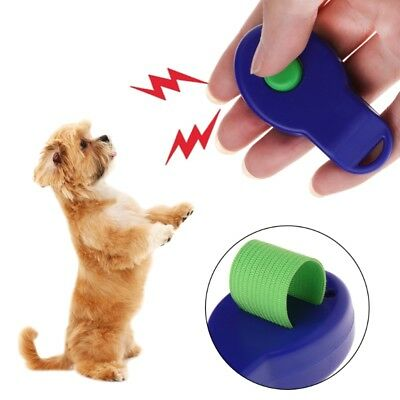 Pet Clicker Dog Puppy Training Sounder Whistle Guide Supplies With Finger Strap