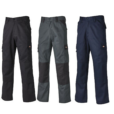 Men/'s Trade Dickies Everyday Work Trousers Navy /& Clip Belt Various Sizes
