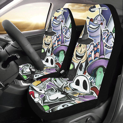 New Design Custom Nightmare Before Christmas Cushions Car Seat Covers Set of 2