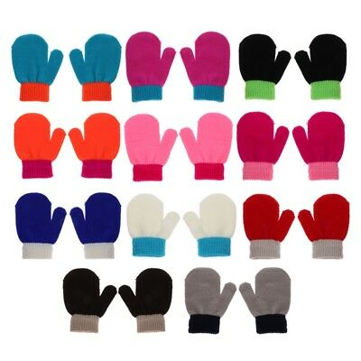Fashion Cute Toddler Glovers Baby Kids Mittens Cotton Knitting Soft Warm Gloves