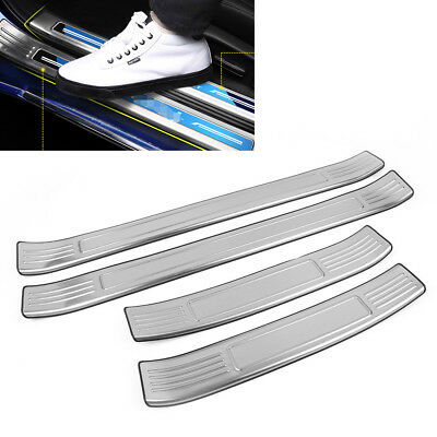 Car Stainless Outer Door Sill Scuff Plate Cover Fit Honda Accord 2018 New Silver