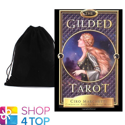 The Gilded Tarot Cards Deck Esoteric Telling Barbara Moore Llewellyn Bag New