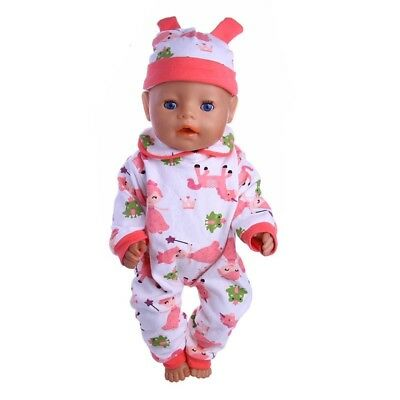 Puppenkleidung, Onessis, pink, 43 cm, zb. Baby Born/Sister, NEU