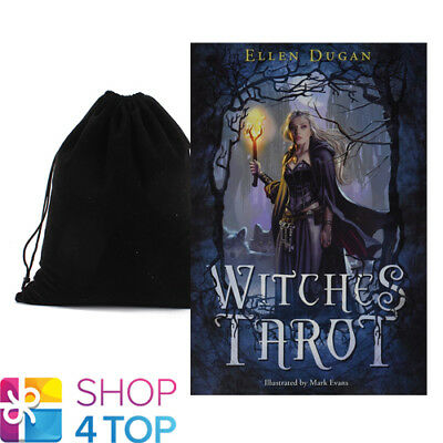 Witches Tarot Cards Deck Esoteric Telling Ellen Dugan Llewellyn New Velvet Bag