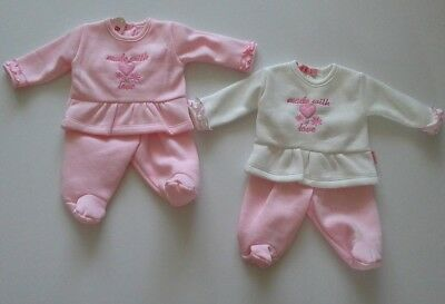 Premature preemie tiny baby girls clothes two piece set 3-5 lbs 5-8lbs BNWT