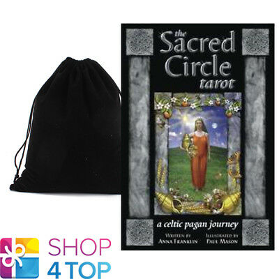 Sacred Circle Tarot Cards Deck Esoteric Telling Anna Franklin Llewellyn Bag New