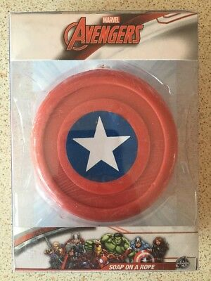 Marvel Avengers Captain Americas Shield - Soap On A Rope - Novelty Soap - UK