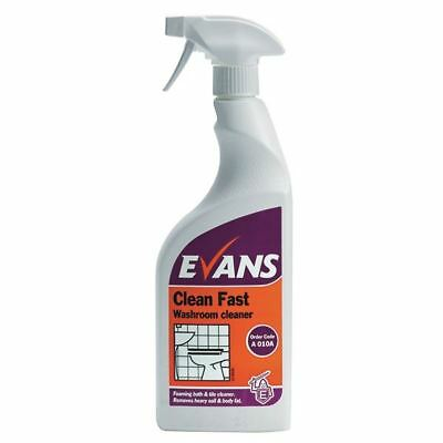 Evans Clean Fast Heavy Duty Washroom Cleaner Spray Bottle 750ml [VA00346]