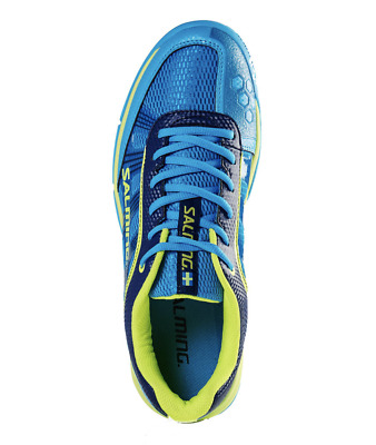 Salming Mens Adder Squash & Indoor Court Shoes - Cyan/Safety Yellow