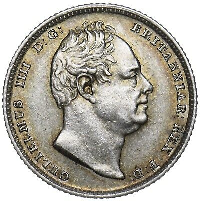 1835 Sixpence - William Iv British Silver Coin - Superb