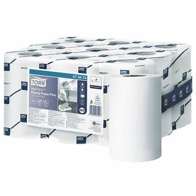 Tork Reflex White 2-Ply Mini Wiper Roll (Pack of 9) 473474 [SCA06294]