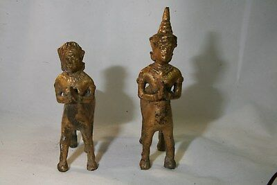 """Two gilted metal Centaurs, 5 1/4"""" amd 6 1/2"""""""