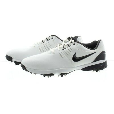 f84cb7bcc85 NIKE 628533 001 AIR RIVAL III GOLF SHOES CLEATS BLACK WHITE Men s ...