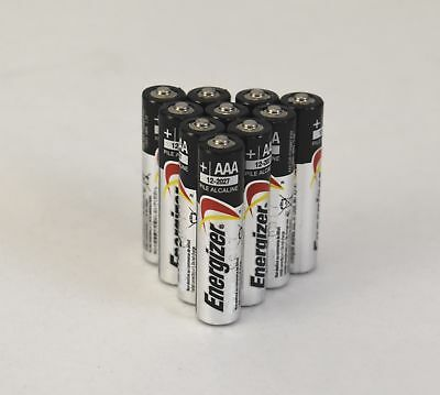 (10 Pack) Energizer AAA E92 Alkaline Batteries Exp. 12/2027 Bulk Packaging