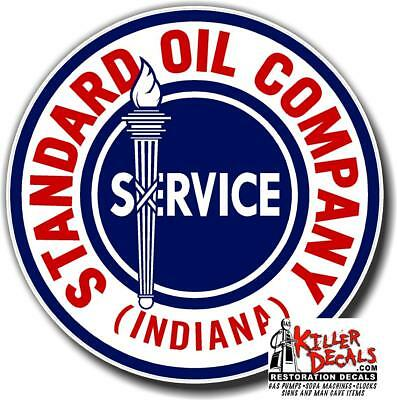 """6"""" EARLY style STANDARD TORCH GAS PUMP OIL TANK DECAL"""