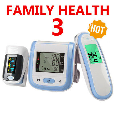 Pack Fingertip Pulse Oximeter+Wrist blood pressure monitor+Digital Thermometer