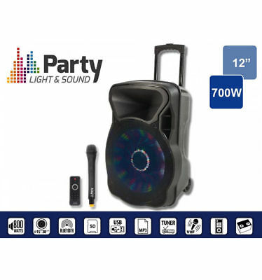 Sono Portable Party 12Led 700w Party Light&Sound micro sans fil VHF animations