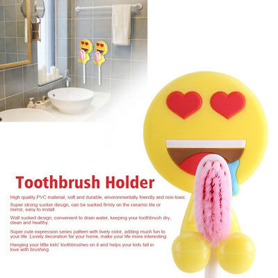 Bathroom Decor Hook Home Wall Mounted Expression Toothbrush Holder Storage Rack