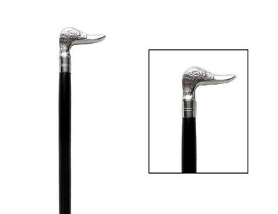 Classic Style Black Shaft Wooden Walking Stick Cane Soild Brass Duck Face Handle
