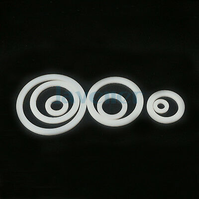 """(20) Sizes PTFE Teflon Flat Washer Gasket Sealing For BSP NPT 1/4"""" To 2"""" Fitting"""