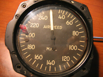 Vintage 240 MPH AIRSPEED INDICATOR CANADIAN INSTRUMENTS 6AA-360 TYPE AS5L