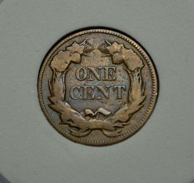1857 Flying Eagle One Cent .  Very Fine - Xf Original Type Usa  Coin !
