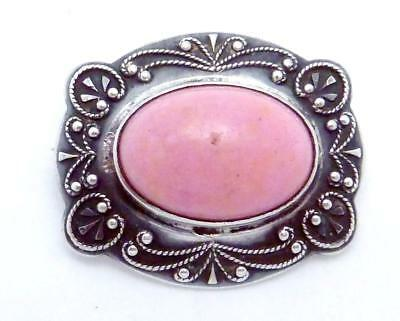 Antique Victorian Sterling Silver Pin Pink Stone 23932
