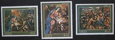 Christmas paintings stamps, 1986, Malta, SG ref: 789-791, 3 stamp set, MNH