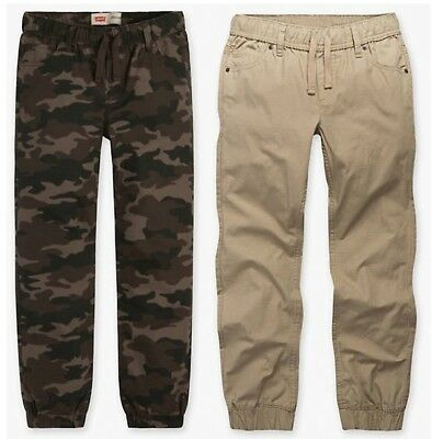 Boys Levi's Ripstop Joggers, Camo or Khaki, Pick Your Size, New with Tags