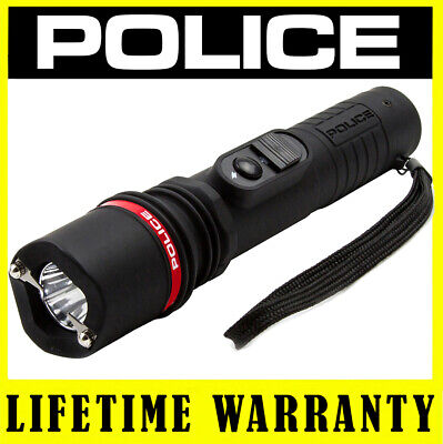 POLICE Stun Gun 305 78 BV Rechargeable With LED Flashlight + Taser Case