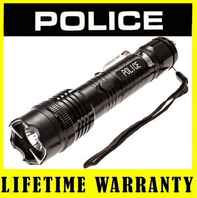 POLICE Metal 1158 58 BV Max Voltage Rechargeable Stun Gun LED Flashlight