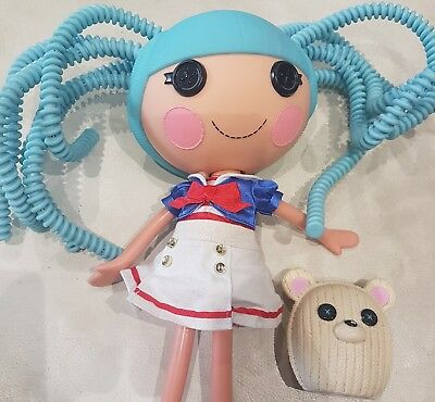 Lalaloopsy Doll Marine Anchor 12 Blue Hair Large With Pet