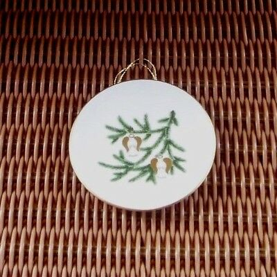 Copenhagen Bing & Grondahl White Limited Edition Plate Angel Ornaments on Tree