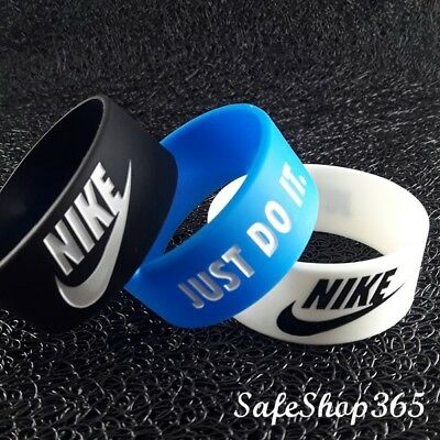 Quality Sport Wristband NIKE/JUST DO Wide Silicone Bracelet Men/Teen Baller Band