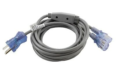 10ft Medical Grade Power Cord NEMA 5-15P to Two Locking IEC C13 by AC WORKS™