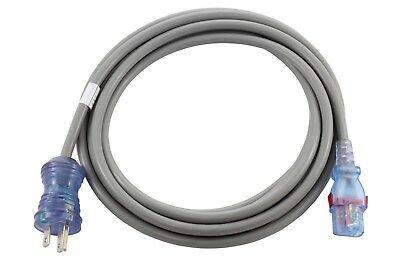 15ft Medical Grade Power Cord NEMA 5-15P to Locking IEC C13 by AC WORKS™