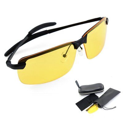 Night Driving Glasses Anti Glare Yellow Vision HD Prevention Driver Sunglasses