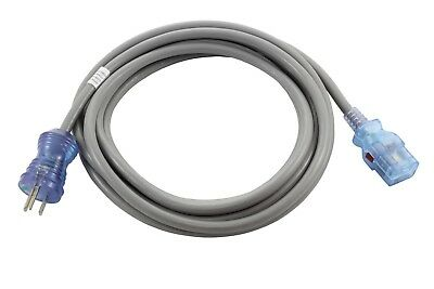 15ft Medical Grade Power Cord NEMA 5-15P to a Locking IEC C19 by AC WORKS™