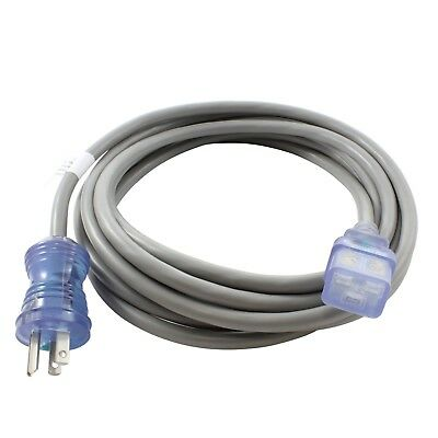 15ft Medical Grade Power Cord NEMA 5-15P to a an IEC C19 by AC WORKS™